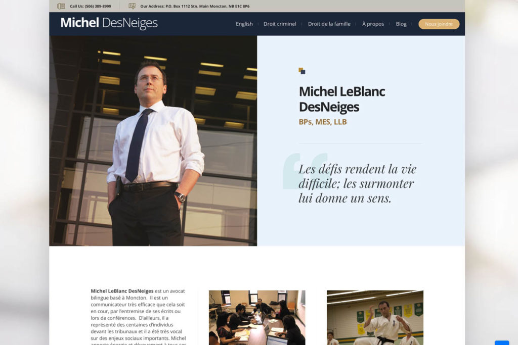 Web site design for lawyers